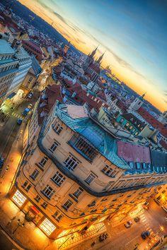 Sunset in Prague, Czechia www.go-czechia.com