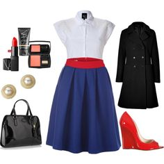 Love work. Love red. Love blue., created by me-is-twisted on Polyvore