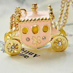 alloy pumpkin car necklace