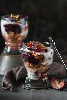 Roasted Plum Breakfast Parfait