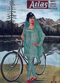 Illustrated by Shree Des Raj in this vintage bicycle poster was made to advertise Atlas bicycles. Others also viewed:The Pope Mfg. Co.M Cassandre –…Vintage Poster Atlas…Big Jake Vintage Film PosterVintage Chinese…Henri de…The Art of Vintage Poste Velo Vintage, Vintage Cycles, Vintage Bikes, Vintage Ads, Vintage Prints, Vintage Metal, Vintage Advertising Posters, Old Advertisements, Vintage Posters