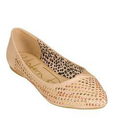 Loving this Beige Studded Edna Flat on #zulily! #zulilyfinds