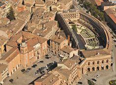 Arena Sferisterio, templo de música lírica en Macerata, Las Marcas, Italia.