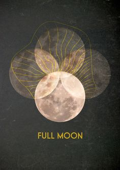 Full Moon - Art Print by Antigoni Chryssanthopoulou - Inogitna/Society6 / Sacred Geometry <3