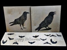 Raven Images, Halloween Wood Crafts, Wood Burning Tool, How To Iron Clothes, Crow, Moose Art, Arts And Crafts, Prints, Character
