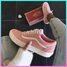 Pink Vans women sneakers #WomenSneakers