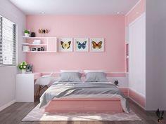 Room Design Bedroom, Girl Bedroom Designs, Small Room Bedroom, Room Ideas Bedroom, Home Room Design, Bedroom Decor, Small Room Design, Cute Room Decor, House Rooms