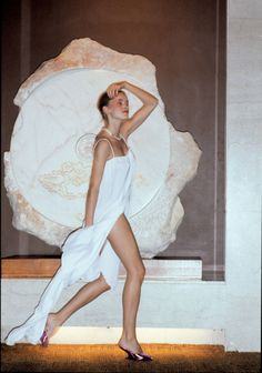 Singapore De Lux - Adele Weiss white dress circa 1980. Photographed by Patrick Russell.