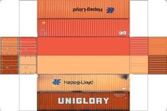 Build Your Own Free Printable 40ft Stack Containers 4 in 1 (HO Scale)