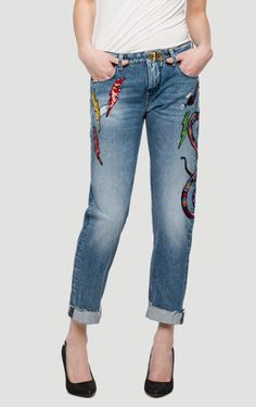Womens We Are Replay Jeans Cindee New Authentic Replay Jeans, Mood Indigo, Capri Pants, Legs, Cotton, Blue, Ebay, Women, Fashion