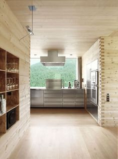 easily one of my favorite kitchen interiors. peter zumthor. #wood #architecture
