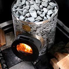 Look at the site click the grey bar for more alternatives _ sauna temperature Metal Art Projects, Welding Projects, Sauna Heater, Grey Bar, Hot House, Metal Fish, Small Backyard Gardens, Stove Fireplace, Gadgets And Gizmos
