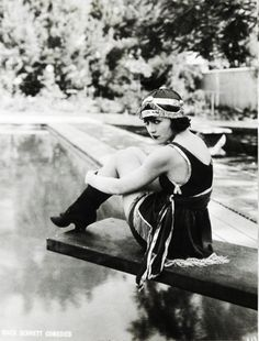 Bathing beauty Marie Prevost, ca. 1910's