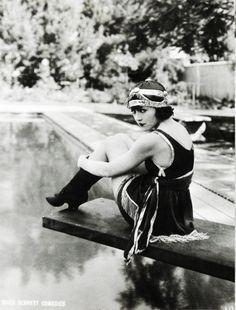 Bathing beauty Marie Prevost, ca. 1910's