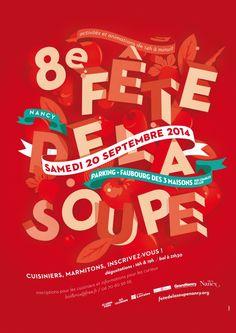 Philippe Tytgat, affiche Fête de la Soupe, 2014