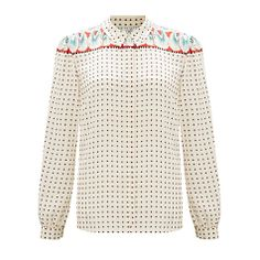 Somerset by Alice Temperley Feather Print Blouse