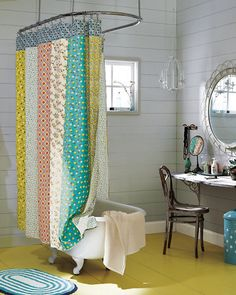 Half Moon Bay Reversible Shower Curtain