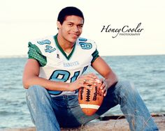 senior football portrait