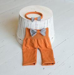 Newborn Pants & Upcycled Headband Set Newborn Photography Prop