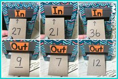 """Turn an empty juice carton into a number function box that will introduce your students to algebraic thinking. Here's a tutorial that will teach you how to make a chute that """"magically"""" flips your number cards over inside an in and out machine."""