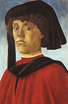Lorenzo di Pierfrancesco de' Medici (1463-1503), nicknamed the Popolano, was an Italian banker/politician who belonged to the junior Popolani branch of the House of Medici of Florence. Lorenzo was born in Florence, son of Pierfrancesco de' Medici (the Elder) & Laudomia Acciaioli. Siblings include Pierfrancesco the Younger, Averardo, Laudomia, Ginevra, and Vincenzo de' Medici. Married to Semiramide Appiano. Botticelli's Mercury in Primavera may have been modeled after Lorenzo di…
