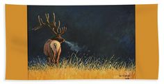 October Morning. Original Elk painting by Lee R Gardner printed onto your very own beach towel. Great gift for yourself or another wildlife enthusiast. Many other images available.