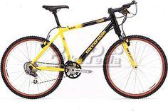 Cannondale F3000 (1998) Super Black-Speed Yellow. $2168. (BikePedia.com) Cannondale Bikes, Mountain Biking, Bicycle, Yellow, Vintage, Black, Biking, Bike, Bicycle Kick