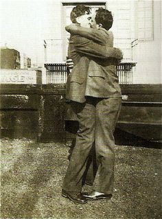 #vintage #gay #love    Not every soldier that came home from the war had a lady waiting to kiss him…