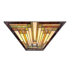 Quoizel Lighting Sconce Wall Light with Multi-Color Glass | TFST8802 | Destination Lighting