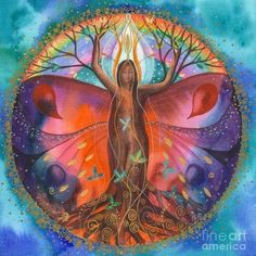 Mother Mary ~ Earth is Now Going into a New Era of Love and Light Mother Mary Monday, February 2018 Channel: Ann Dahlberg I am Mother Mary and I wa(. Tree Of Life Art, Tree Art, Mandala Art, Spirited Art, Goddess Art, Visionary Art, Sacred Art, Love And Light, Art Pictures