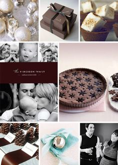 holiday card inspiration board - winter chic by kelli hall - lots of chocolate!
