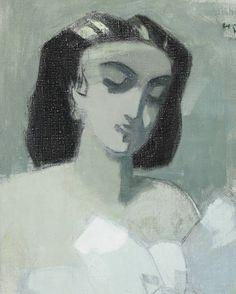 Helene Schjerfbeck - Girl with Blue Ribbon Helene Schjerfbeck, Helsinki, A4 Poster, Poster Prints, Famous Art, Vintage Artwork, Gravure, Sculpture, Figure Painting