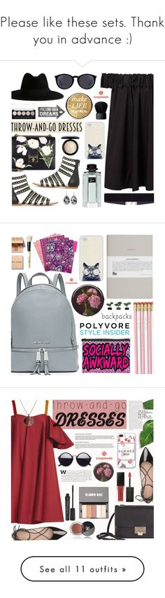 """Please like these sets. Thank you in advance :)"" by dora04 ❤ liked on Polyvore featuring Yves Saint Laurent, Dolce&Gabbana, Gucci, MAC Cosmetics, NARS Cosmetics, Sass & Belle, 8 Other Reasons, easypeasy, MICHAEL Michael Kors and Vera Bradley"