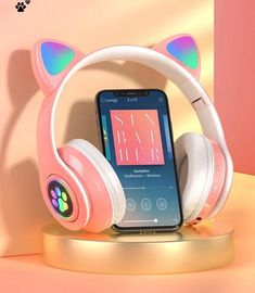 Wireless Headphones With Mic, Cute Headphones, Headphone With Mic, Wireless Headset, Cat Ear Headset, Hifi Stereo, Noise Cancelling, Cool Things To Buy, Unicorn Fashion