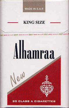 New Alhamraa King Size 20SY2010  Cigarette Packaging- Syria