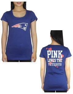Amazon.com  Pink Victoria s Secret Womens NE Patriots T Shirt L Dark Blue   Clothing. NFL Fans Paradise · New England Patriots 16024304c