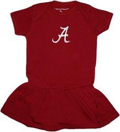 "Alabama Crimson Tide Script ""A"" Picot Bodysuit Dress"
