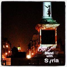 Stand #WithSyria last night #TrafalgarSquare. #Kooky #London #App https://itunes.apple.com/gb/app/kooky-london/id625209296?mt=8 #ig_London #igLondon #London_only #UK #England #GreatBritain #British #iPhone #quirky #odd #weird #photoftheday #photography #picoftheday #igerslondon #banksy #lovelondon #timeoutlondon #instalondon #londonslovinit #mylondon #Padgram