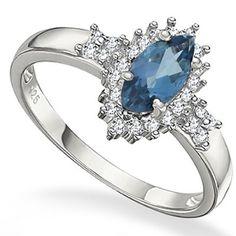 .78 Carat London Blue Topaz Ladies' Ring