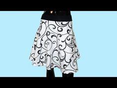Jak se stříhá půlkolová sukně - YouTube