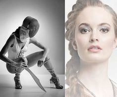 A fashion shoot with a fencing theme