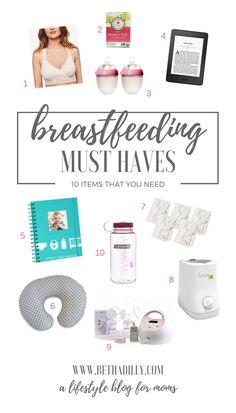 Super helpful list of breastfeeding items that you NEED!