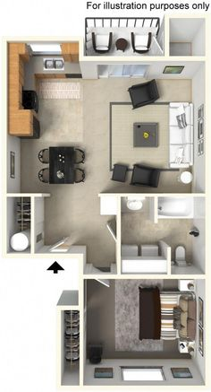Need to see this apartment in person? Come by for a personal tour! Need to see this apartment in person? Come by for a personal tour! Sims House Plans, House Layout Plans, Floor Plan Layout, Small House Plans, House Layouts, House Floor Plans, Small Apartment Plans, Small Apartment Design, Apartment Floor Plans