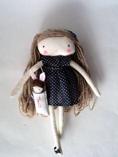 Isabella, art rag doll