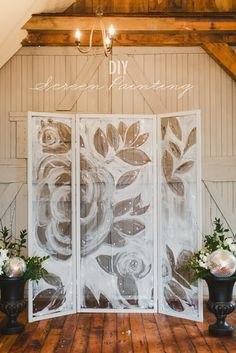 DIY Screen Painted Backdrop