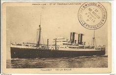 """TRANSPORTS - Bateaux - Paquebot """"De La Salle"""" - French Line - Cie Gle Transatlantique - - Paquebots"""