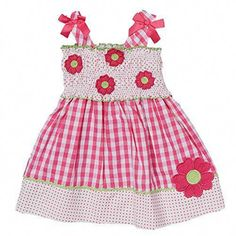 This Pink Gingham Flower Babydoll Dress - Infant & Girls is perfect! Toddler Girl Style, Toddler Dress, Toddler Outfits, Girl Outfits, Infant Toddler, Toddler Girls, Infant Girls, Pink Gingham, Gingham Dress