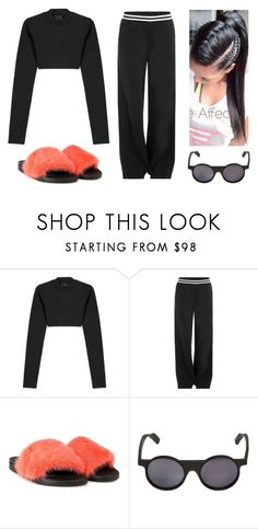 """""""Casual Chic - givenchy slides"""" by lucia-grigore ❤ liked on Polyvore featuring Puma, Givenchy and Yohji Yamamoto"""