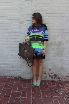 Glitter and Gingham : brightly striped