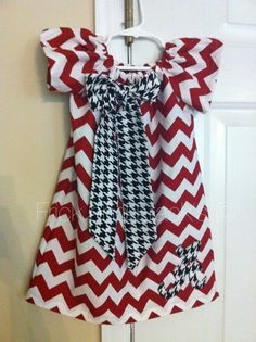 Hey, I found this really awesome Etsy listing at http://www.etsy.com/listing/159725469/alabama-chevron-peasant-dress
